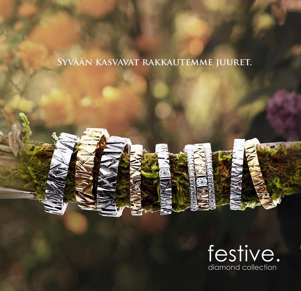 Festive timanttisormukset